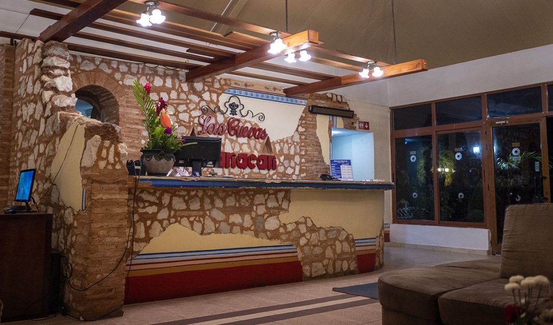 The bar at Hotel Las Cuevas in Trinidad